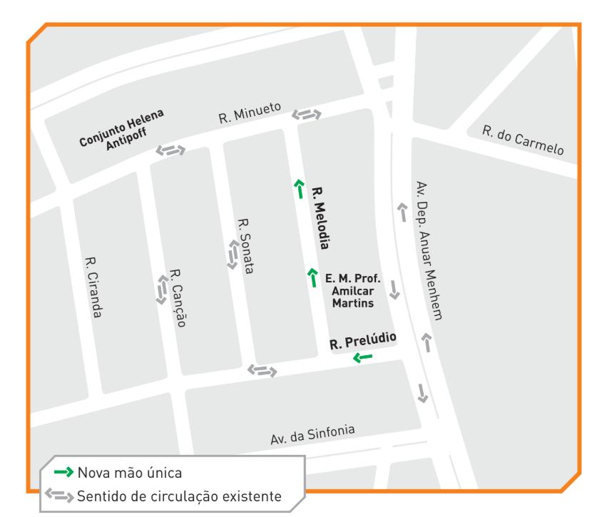 Mapa gráfico do trânsito no bairro Santa Amélia
