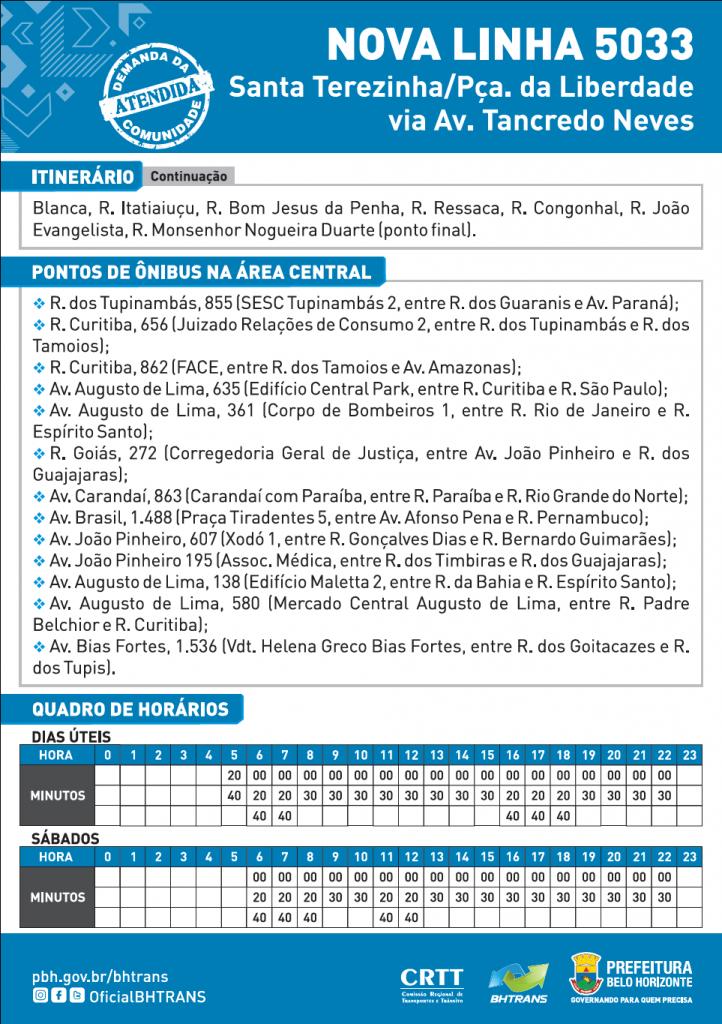 Folheto linha 5033-2