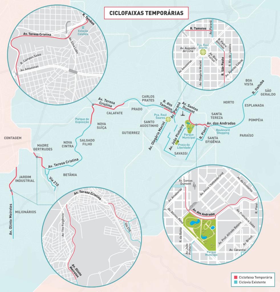 Mapa BHTrans